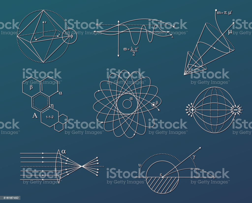 science charts vector art illustration