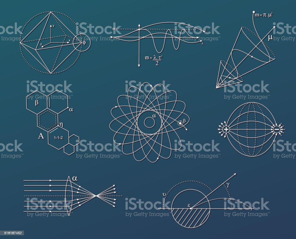 De Ciência gráficos - ilustração de arte em vetor