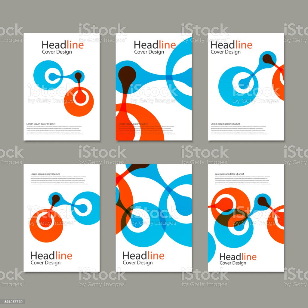 Science cover template background with molecules vector art illustration