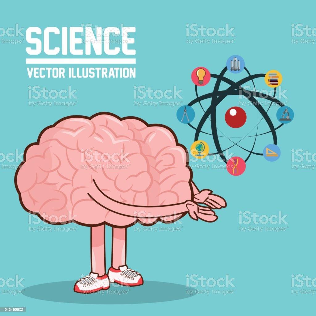 science design colorfull illustration brain icon stock vector art