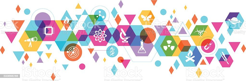 Science design vector art illustration