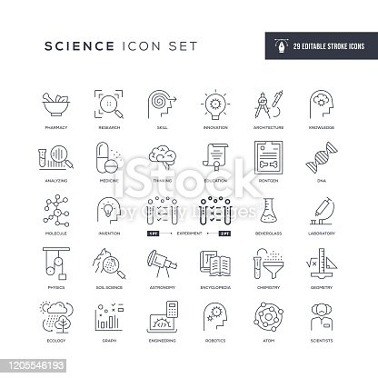 29 Science Icons - Editable Stroke - Easy to edit and customize - You can easily customize the stroke with
