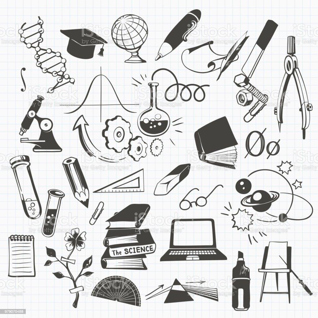 科学、教育および学校のクリップアート ベクターアートイラスト
