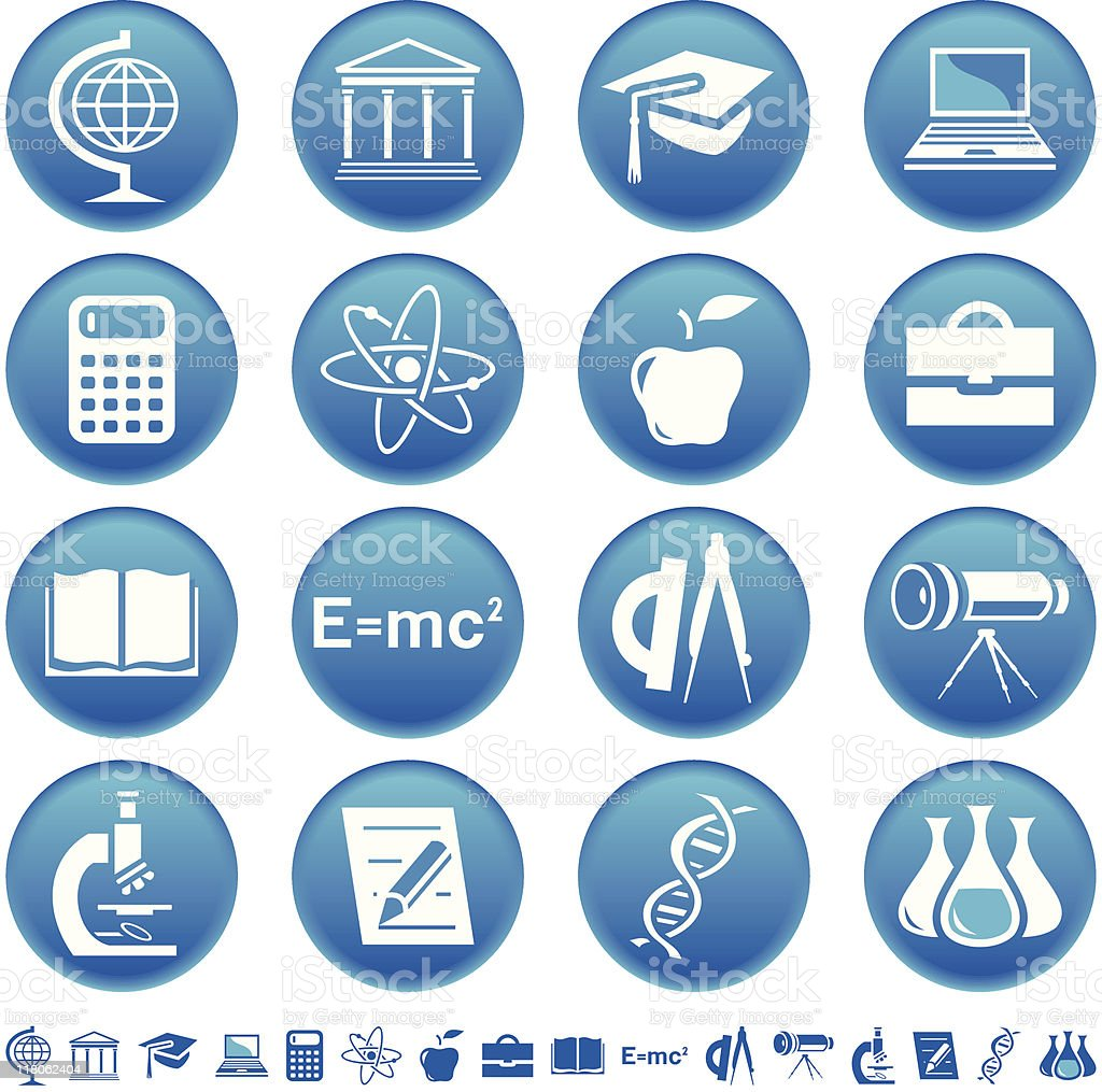 Science & education icons royalty-free stock vector art