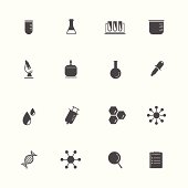 Science Equipment and Lab black Icons