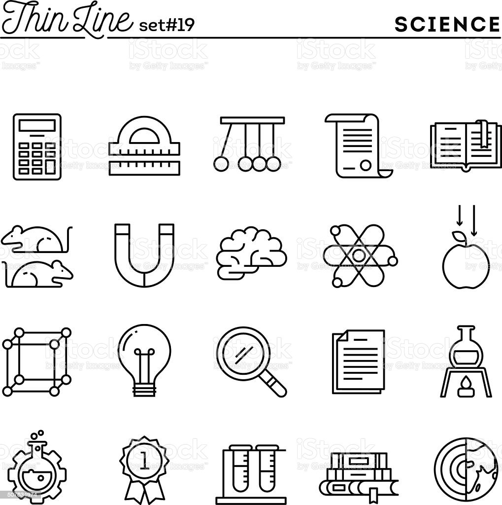 Science, experiments, laboratory, studies and more vector art illustration