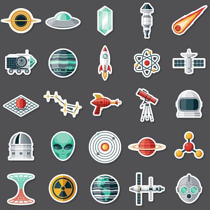 Science Fiction Sticker Set