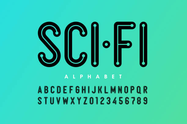 Science fiction style font