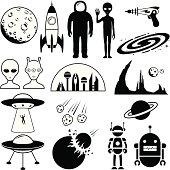 istock Science Fiction Symbols 166080534