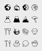 16 Science icon land black