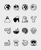 16 Science icon ocean black