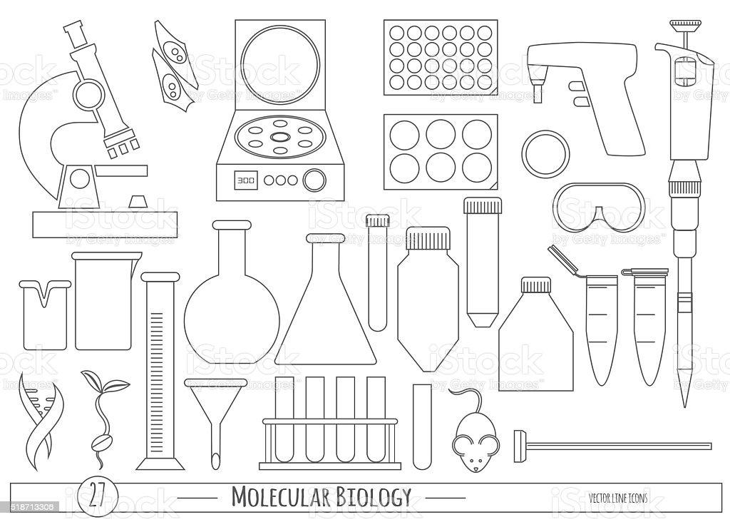 Science icon set vector art illustration