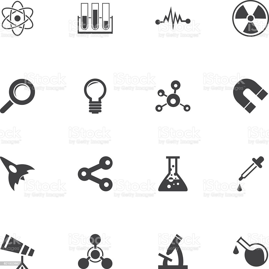 Icon Set de la Science icon set de la science – cliparts vectoriels et plus d'images de aimant libre de droits