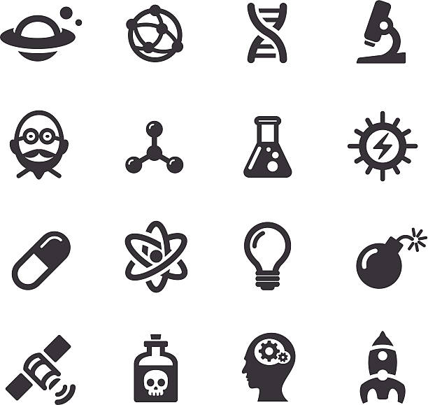 Science Icons - Acme Series View All: laboratory flask stock illustrations