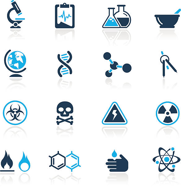 Science Icons // Azure Series vector art illustration