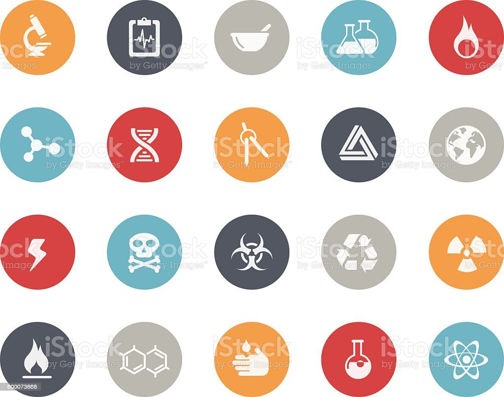 Science Icons // Classics vector art illustration