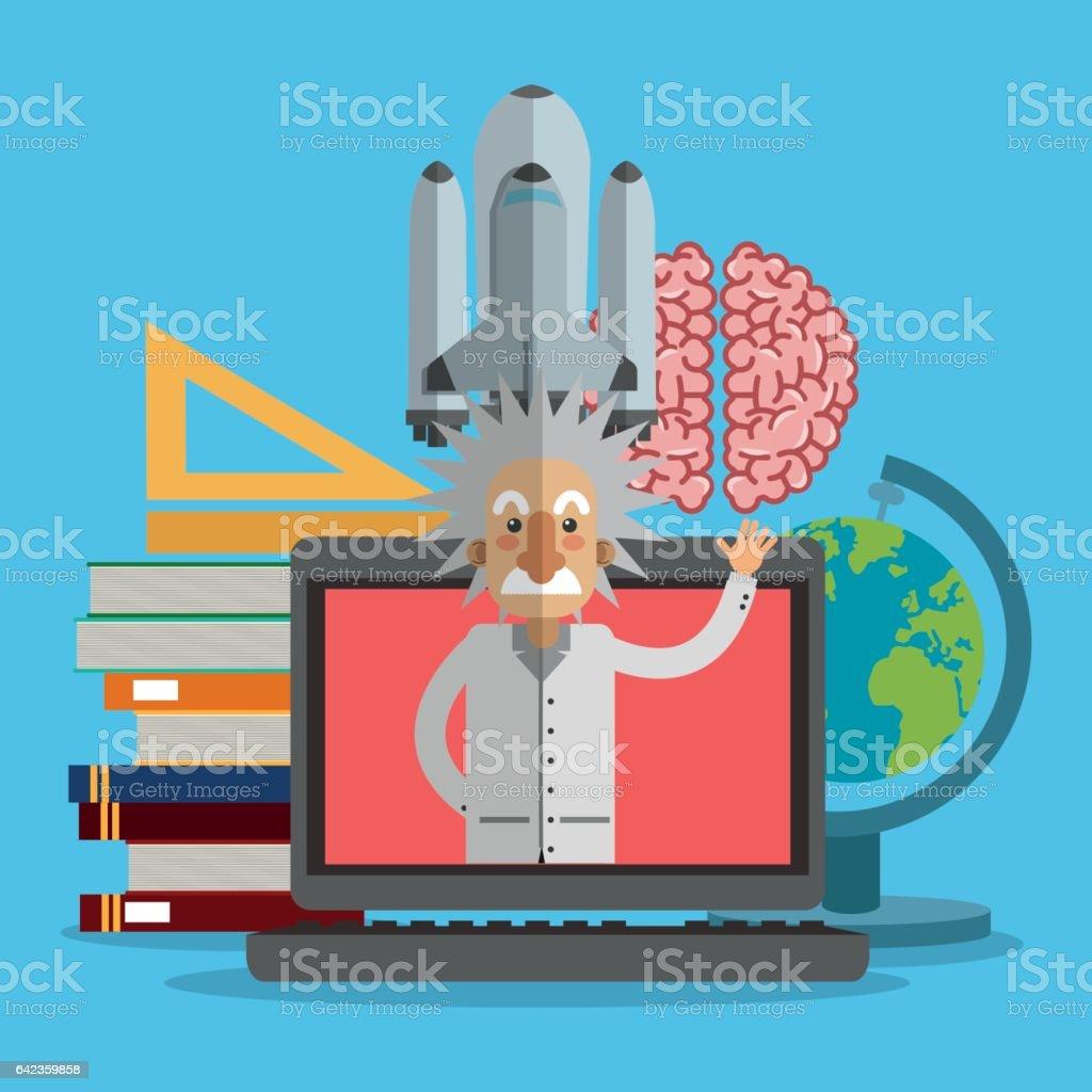 Science icons design , vector illustration vector art illustration