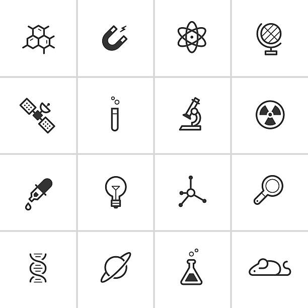 Science Icons — Inky Series Simple vector icon set representing general scientific instruments and concepts. human cell stock illustrations