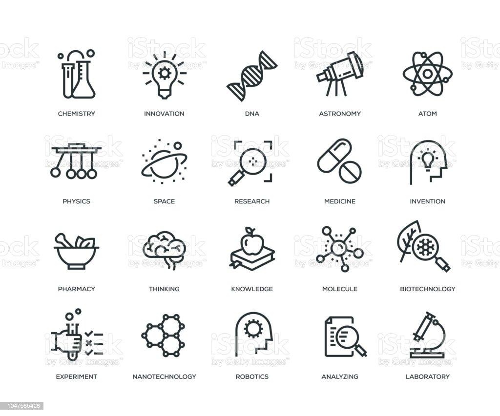 Science Icons ラインシリーズ ベクターアートイラスト