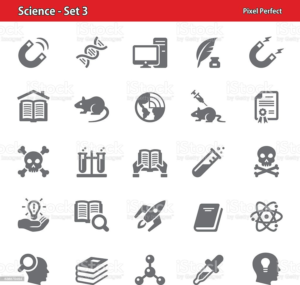 Science Icons - Set 3 vector art illustration