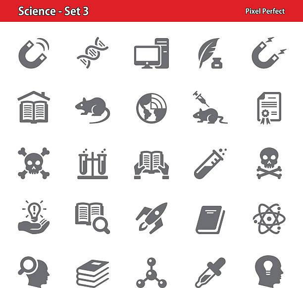 wissenschaft symbole-set 3 - stiftehalter stock-grafiken, -clipart, -cartoons und -symbole