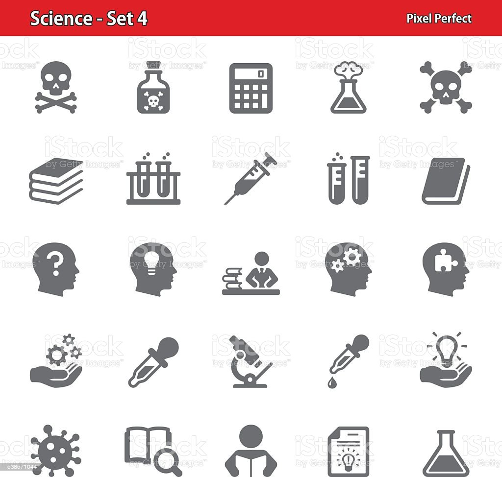 Science Icons - Set 4 vector art illustration