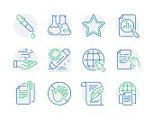 istock Science icons set. Included icon as Internet, Do not touch, Chemistry lab signs. Vector 1279831420