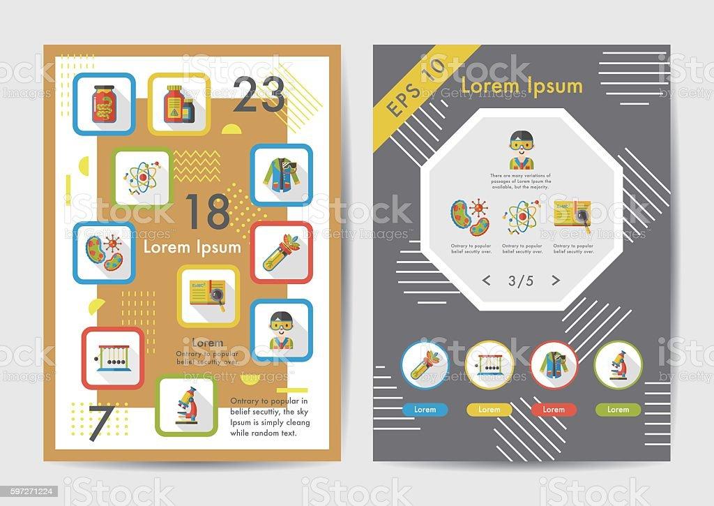 Science icons set with long shadow,eps10 Lizenzfreies science icons set with long shadoweps10 stock vektor art und mehr bilder von atom