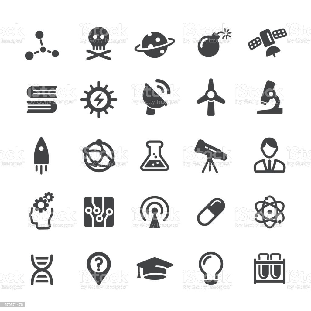 Science Icons - Smart Series vector art illustration