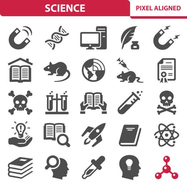 Science Icons Professional, pixel perfect icons, EPS 10 format. animal testing stock illustrations