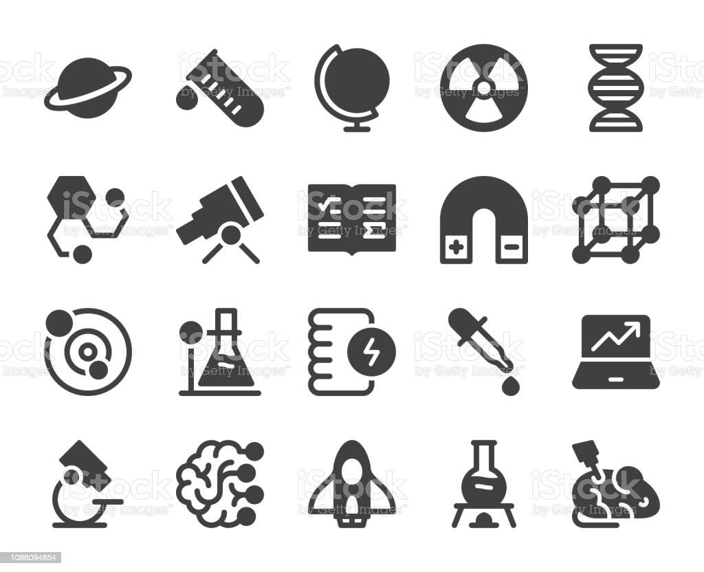 Science - Icons vector art illustration
