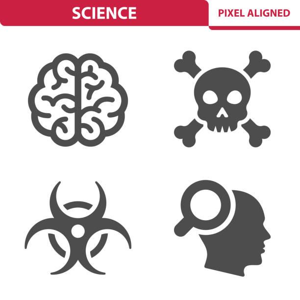 bildbanksillustrationer, clip art samt tecknat material och ikoner med vetenskap ikoner - brain magnifying