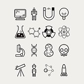 16 Science icons