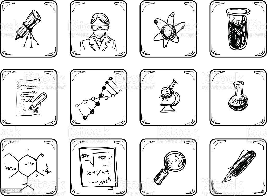 Science icons. royalty-free science icons stock vector art & more images of algebra
