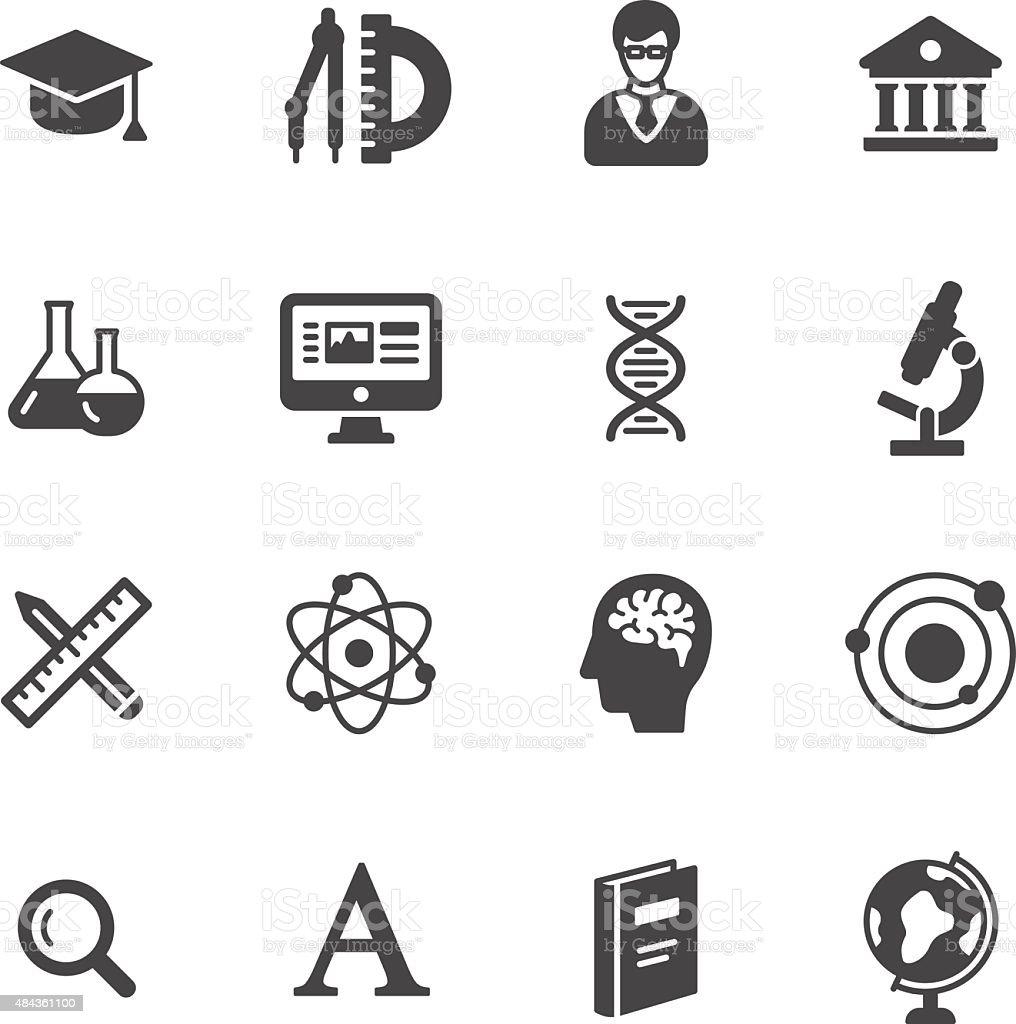 Ícones de Ciência - ilustração de arte em vetor
