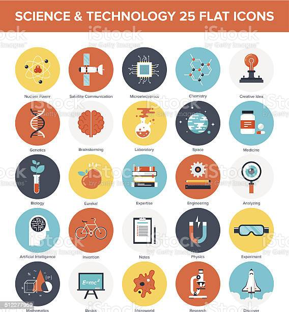 Science Icons Stock Illustration - Download Image Now