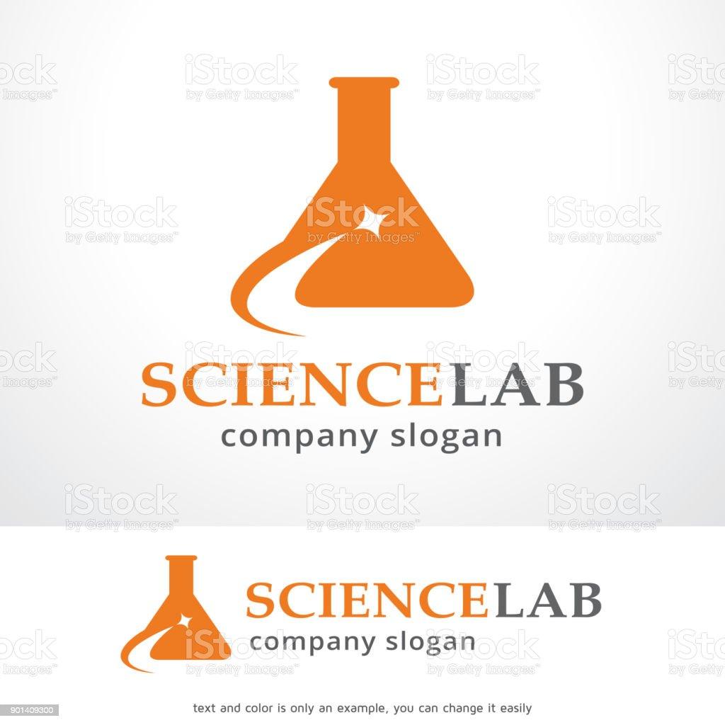 Science Lab Symbol Template Design Vector, Emblem, Design Concept, Creative Symbol, Icon vector art illustration