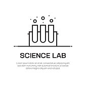 istock Science Lab Vector Line Icon - Simple Thin Line Icon, Premium Quality Design Element 1149280172