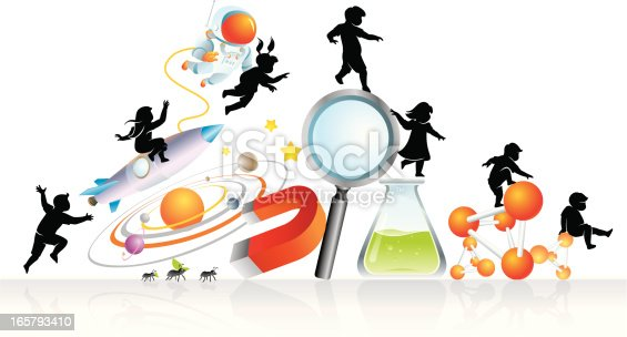 Cute pupils enjoy discovering science. Properly grouped elements with high resolution jpg. More Education Series Lightbox