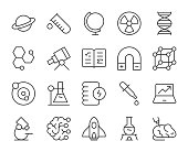 Science - Light Line Icons