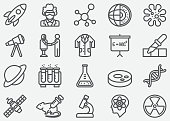 Science Line Icons