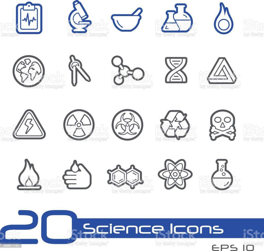 Science - Line Series vector art illustration