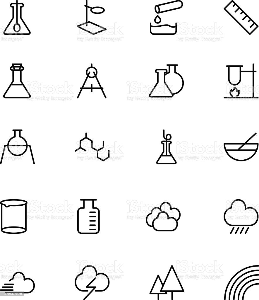 Science Line Vector Icons 6 vector art illustration