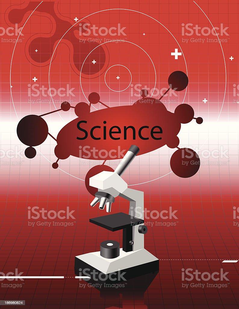 science microscope royalty-free stock vector art