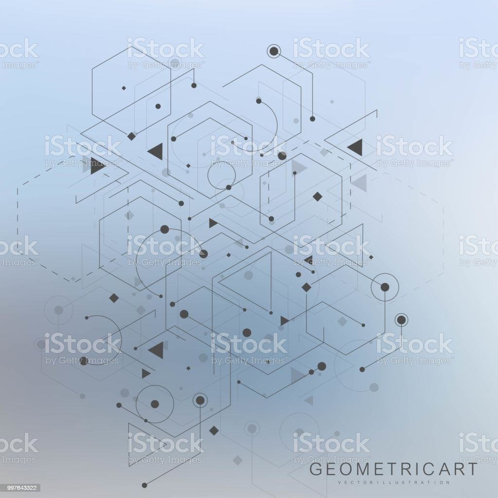 Science Network Pattern Connecting Lines And Dots Global Network ...