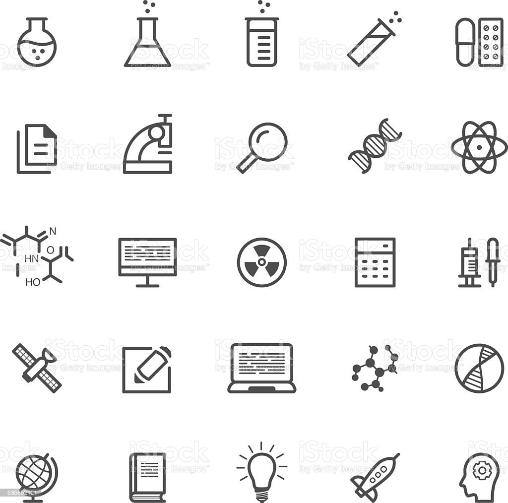 Science & physics icons vector art illustration