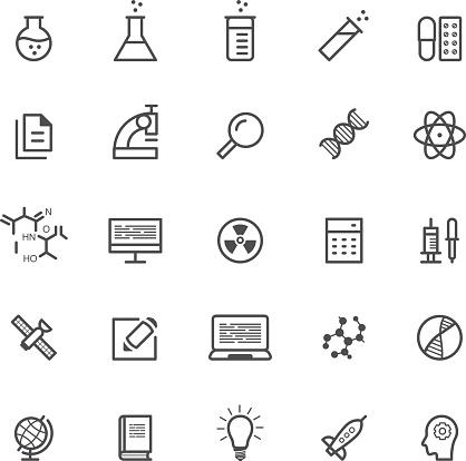 Wissenschaft Physik Symbole Stock Vektor Art und mehr