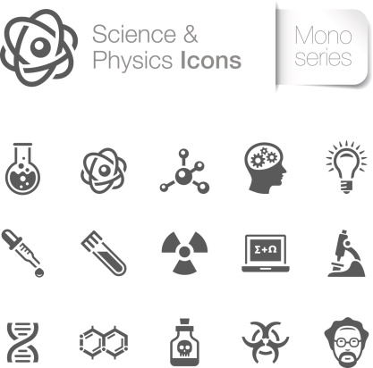 Science Physics Related Icons Stock Illustration