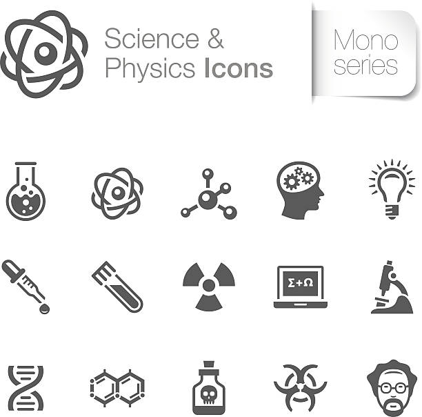 Science & Physics Related Icons vector art illustration