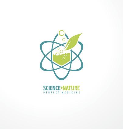 Science Plus Nature For Perfect Medicine Stock Illustration
